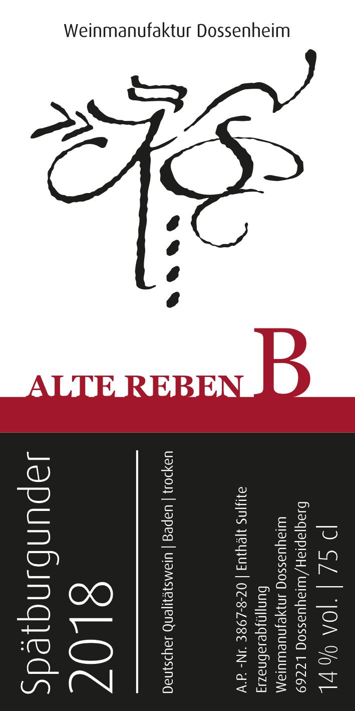 Spätburgunder B – Alte Reben